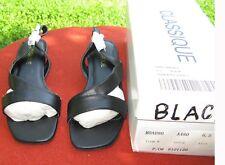 CLASSIQUE 6 &1/2 M BLACK CAMI SANDALS - Never Worn