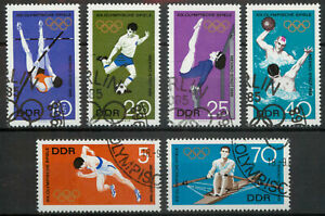 Germany East DDR 1968 Olympic Games set SG E1125-E1130 used A105