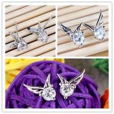 1Pair Korea Fashion Women Jewelry Angel Wings Crystal Ear Stud Earrings Hot