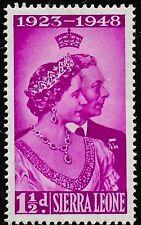 1948 SIERRA LEONE AFRIKA KING GEORGE VI SILBERHOCHZEIT UNGEBRAUCHT