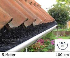 5 Meter Dachrinnenbürste Ø10,5cm, á 100cm Laubschutz Photovoltaik Marderschutz