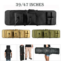 39/47 Inches Hunting Rifle Bag Tactical Padded Gun Case Backpack Rifle Carry Bag