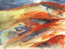 Foothills Landscape Original Watercolor Painting American West Western Desert