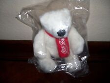 Coca Cola Plush Stuffed Polar Bear with Winter Scarf