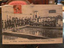 cpa 83 giens bains d'hiver a la piscine paul renouard sanatorium rene sabran