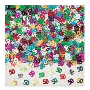 50TH CONFETTI WITH STARS TABLE DECORATION, ART & CRAFT