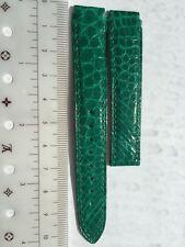 Genuine Chopard crocodile leather emerald color watch strap 16mm