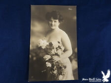 SIGNED Gerlach RPPC Else Risque Romantic Lovely Lady Roses CLEAVAGE
