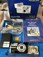 Olympus Stylus 1020 Digital Camera 10.1 Megapixel Black~~MINT~~BUNDLE~~