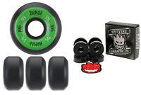Bones Wheels 100's Black 54mm Conical V5 + FREE Spitfire Skateboard Bearings