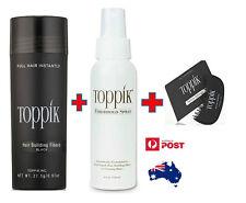 NEW TOPPIK 27.5g Hair Loss Building Fibers + Optional Hairline Optimiser & Spray