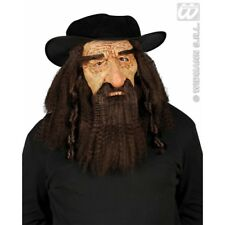 RABBI MASK WITH HAT HAIR & MOUSTACHE Accessory for Jew Jewish Yiddish Fancy Dres