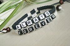 Couples Bracelets Set, His Hers Bracelets,Always Forever, lovers,Anniversary