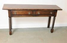 English Oak Dresser Base Server Buffet Sideboard Farmhouse Spiral Leg