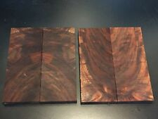 1) Small Pair Bookmatched Lightly Figured Black Walnut Knife Scales Pistol Grip