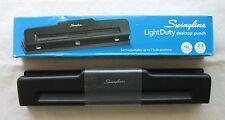 NIB Swingline 2-3-Hole Adjustable Desktop Paper Punch Light Duty Black Steel