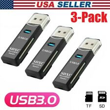 2pcs USB 3.0 High Speed Memory Card Reader Adapter for Micro SD SDXC TF T-flash