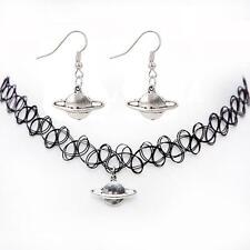 Choker Boho Style Tattoo Jewelry Set Necklace Earring