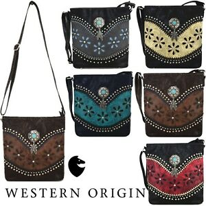 Western Cross Body Handbag Women Concealed Carry Women Purse Single Shoulder Bag