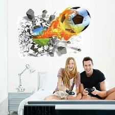 Waterproof 3D Removable Football Soccer Home Room Wall Sticker Decal Decor