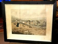 RARE HENRY ALKEN LITHO THE FIELD SHOOTING SPORTING ILLST HAND WATERCOLOR 1820s