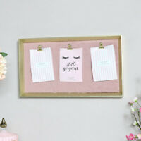 Gold & Pink Furry Memo Board notice photograph wall home decor display art gift