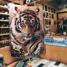 XL Wild Tiger Blanket Cotton Sofa Throw Rug Animal Beast Tapestry Decoration