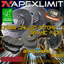 Front Drill Rotors /& Ceramic Pads for 2006-2014 Toyota Yaris w// Rear Drum Brakes
