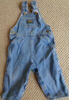Vintage Oshkosh B'Gosh Blue Jean Denim Bib Overalls Osh Kosh Vestbak 3T EUC Baby