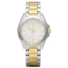 NWT Coach WOMEN'S TRISTEN GOLD SILVER TWO-TONE BRACELET WATCH 32MM 14501781