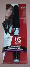 (2) Vidal Sassoon Titanium Ionic Round Thermal Brush NEW with Bonus Elastics