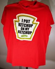 MF  BRAND HEINZ - I PUT KETCHUP ON MY KETCHUP -RED T-SHIRT LARGE