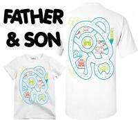 New Matching T Shirt Father Son Playmat Castle Car Track Massage T-Shirt