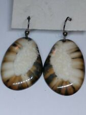 Fossil Walrus Ivory Earrings New