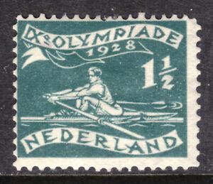 NETHERLANDS SEMI-POSTAL #B25 1½c DK GREEN,1928, F, MINT HINGED