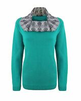 New Ladies Womens Knitted Cowl Neck Bubble Knit Long Sleeve Jumper Sweater Top