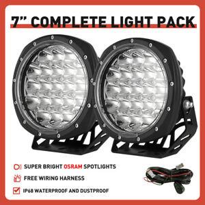 OSRAM Pair 7INCH Black Round LED Driving Lights Spotlights Offroad SUV 4x4 ATV
