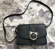 Womens Black And Gold Dove Primark Clutch Messenger Bag With Strap