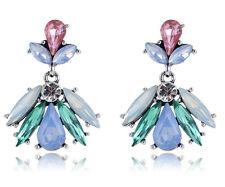 Drop Dangle Stud long Earrings 019 1 pair Elegant Bib Crystal Rhinestone Ear