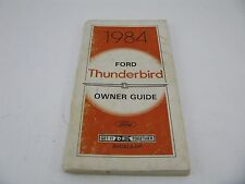 Ford Thunderbird 1984 84 Owners Manual Guide Book Owner Thunder Bird