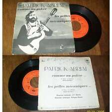 PATRICK ABRIAL - Comme Au Poker Rare French PS 7' Folk Prog