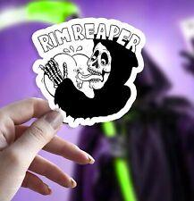 Rim Reaper Sticker- Grim Reaper Parody Waterproof Vinyl Sticker, Sticker Gift