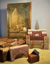 Antiker BING Steinbaukasten B5 - Bauklötze aus Stein - rar selten - um 1900