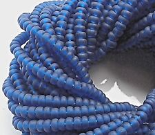 "Czech Glass Seed Beads Size 10/0 "" MONTANA BLUE MATTE "" 1 Hank"
