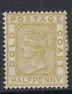 Gold Coast 1879 QV  1/2d Olive-Yellow  SG.4 Mint (No Gum)