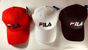 Unisex Fila Baseball Cap Adjustable Golf Summer Sun Sports Hat Running Cap Hot