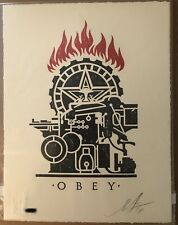 OBEY PRINTING PRESS Shepard Fairey Letterpress print signed #ed edition of 450