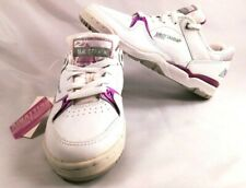 Vintage Brittania Womens White and Purple Tennis Shoes Sneakers Size 8