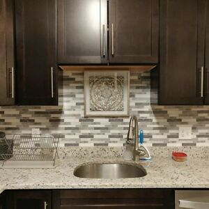 5 Pck 12x12 Peel and Stick Backsplash Kitchen Bathroom Mosaic Tiles Wall Decor