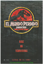 JURASSIC PARK II & THE LAND THAT TIME FORGOT Orig. SPAN. MOVIE POSTERS DINOSAURS
